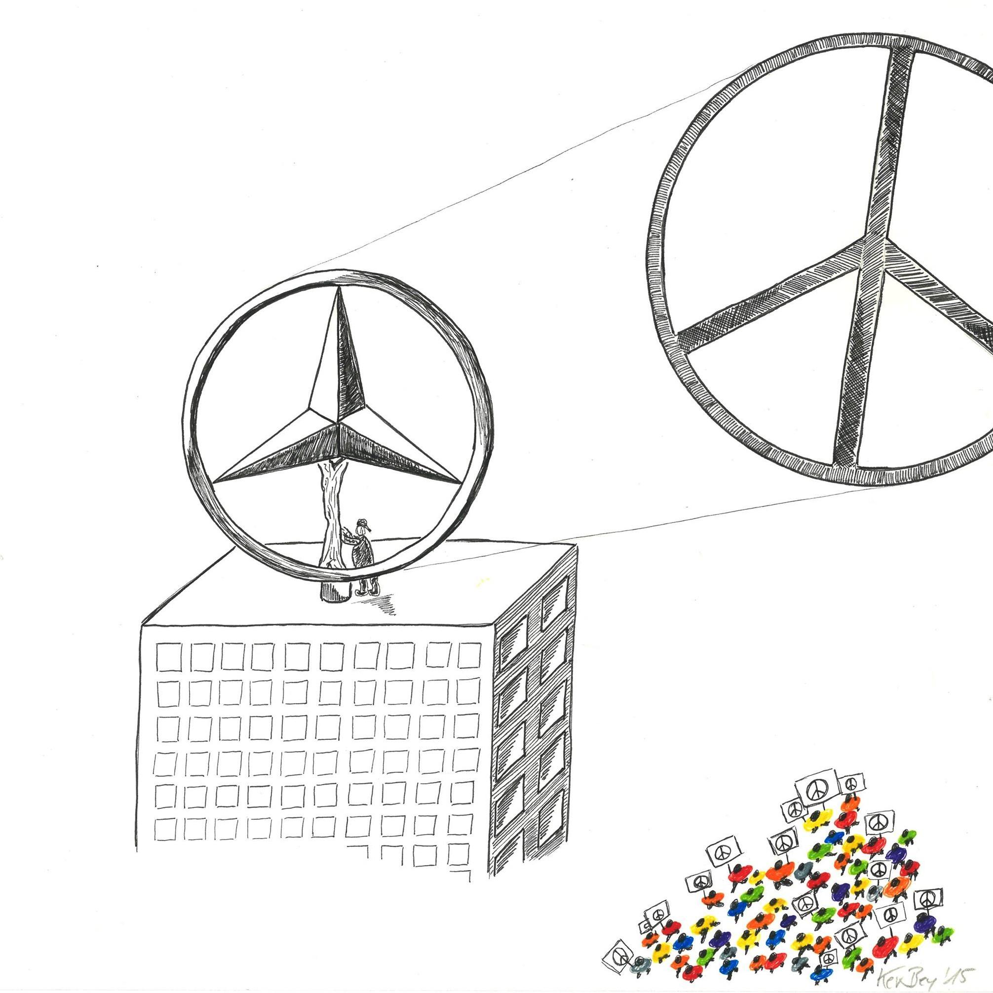 Kerstin Carolin Beyer, Refugees, Peace, Hate, Drawing, Flüchtlinge Deutschland, Flüchtlingshilfe