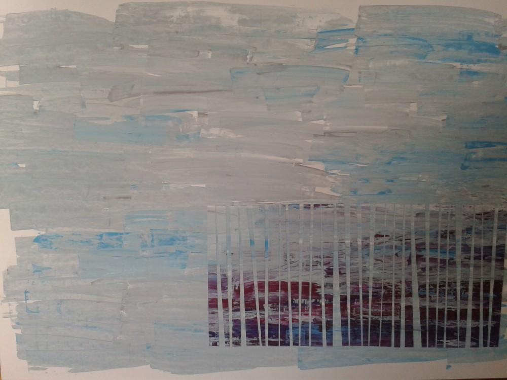 Kerstin Carolin Beyer, Painting, Kunst, Acrilic, colors, Malerei, collage