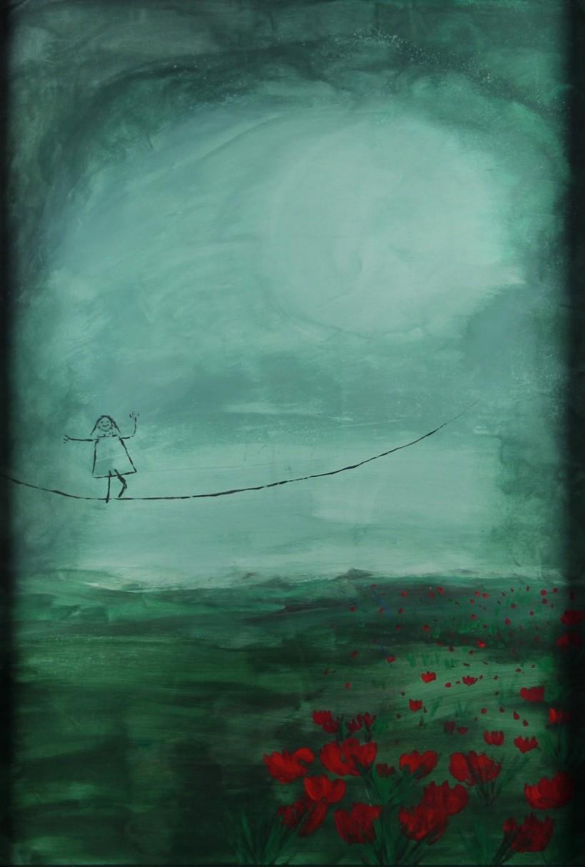 Kerstin Carolin Beyer, Painting, Kunst, Acrilic, colors, Malerei, Dancing, Moon
