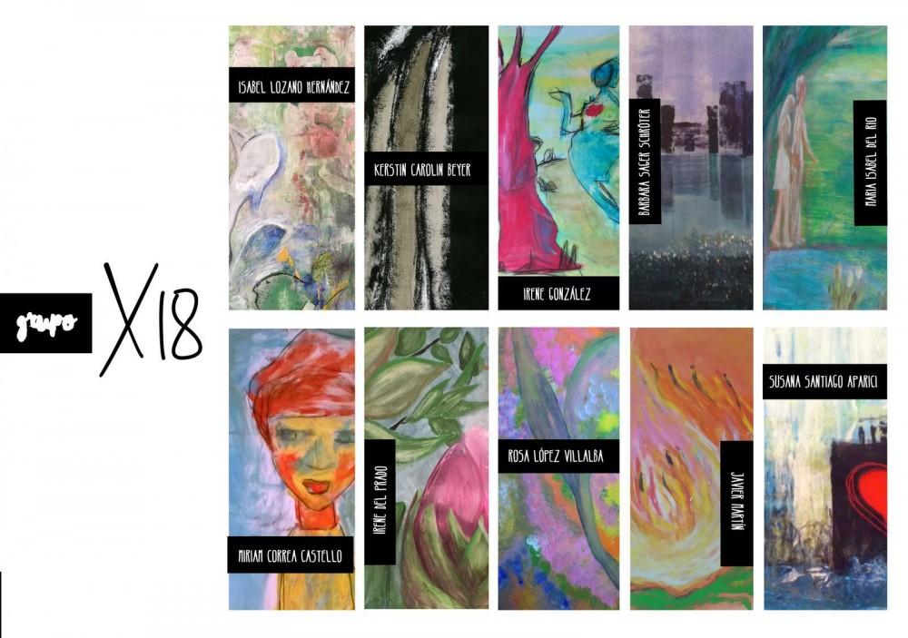 Exhibition, Kerstin Carolin Beyer, grupo X18, paintings, pintura