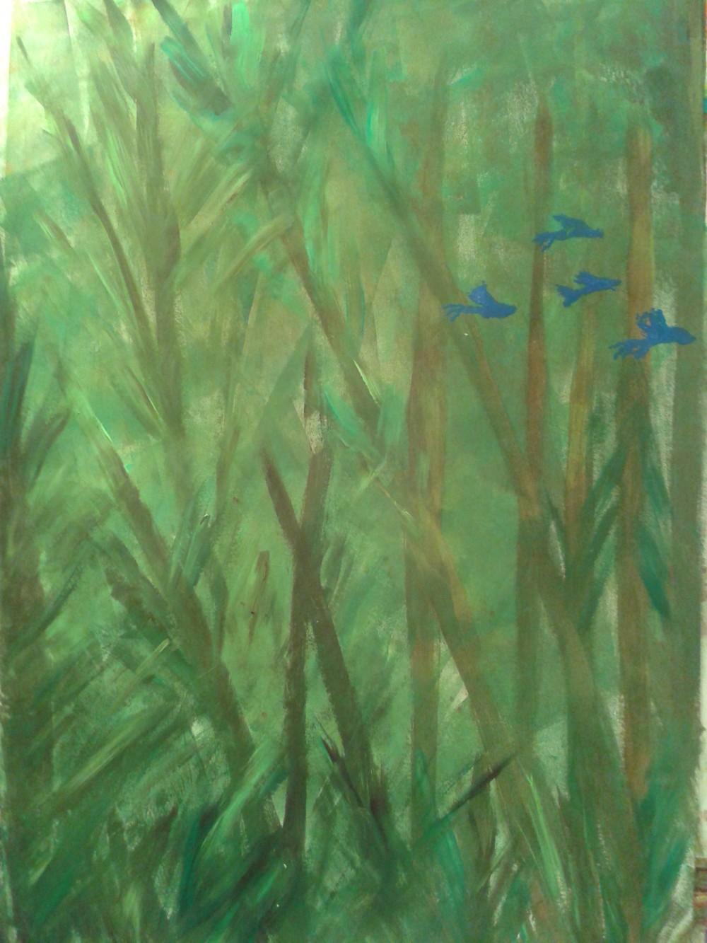 Kerstin Carolin Beyer, Painting, Kunst, Acrilic, colors, Malerei, nature, birds, Fraser Island