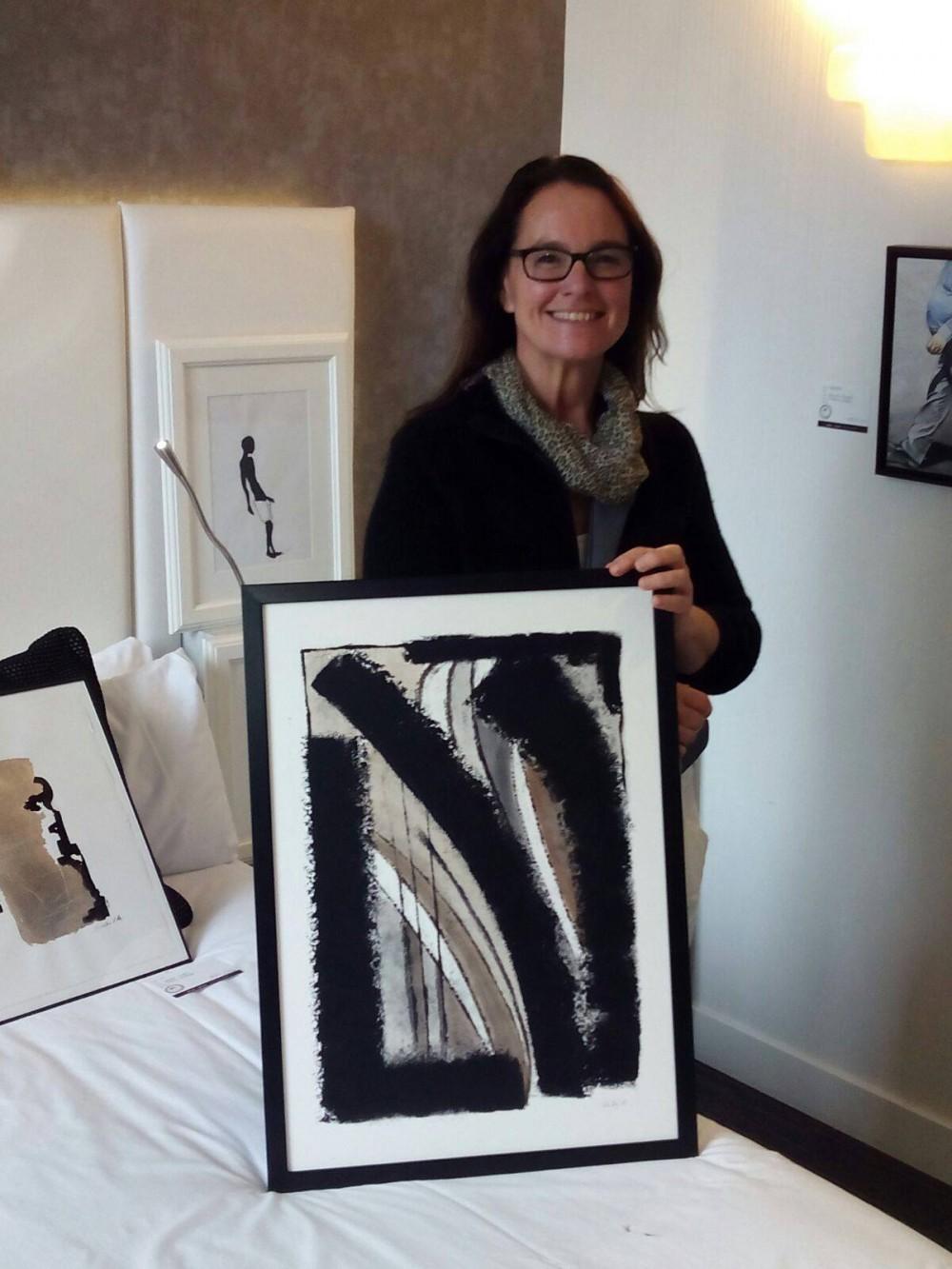 Kerstin Carolin Beyer, sold, vendido, Room Art Fair, Johnny Cool Art, exhibition, exposición, Painting, pintura, refugios,