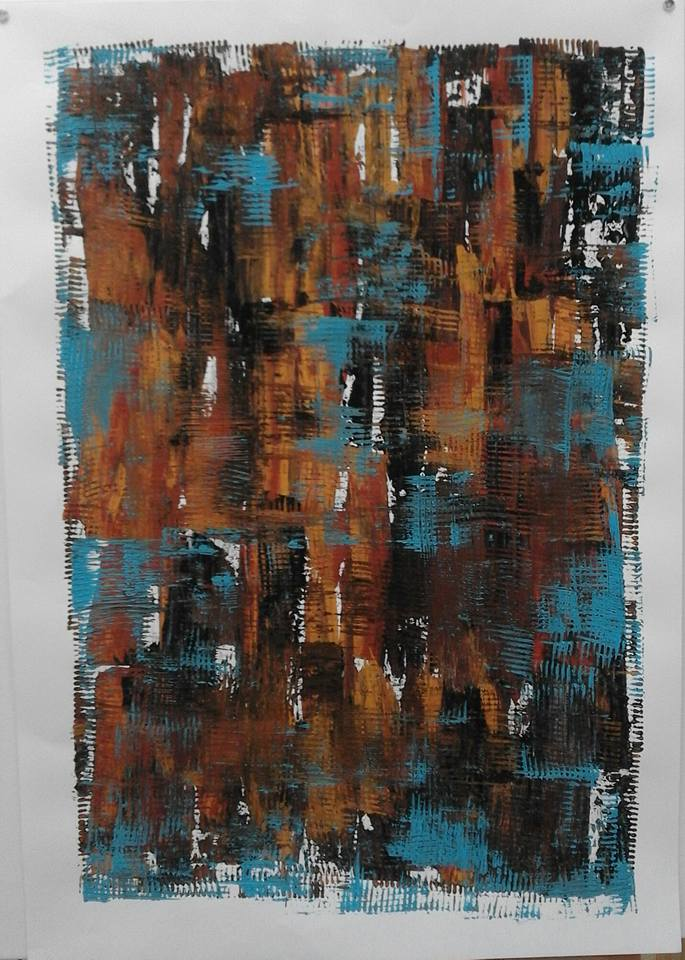 Kerstin Carolin Beyer, art, artist, painting, pintura, scratch, rascar, colors, colores
