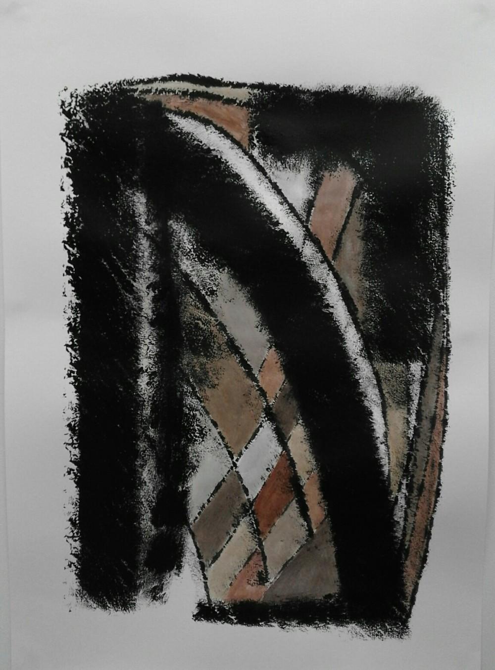 Kerstin Carolin Beyer, Black and brown series, Painting, art work, dynamic art, colors, New York, Acrilic on paper