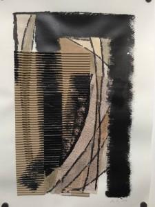 Kerstin Carolin Beyer, arte, art, painiting, pintura, acrilic, acrílico, collage, periodico