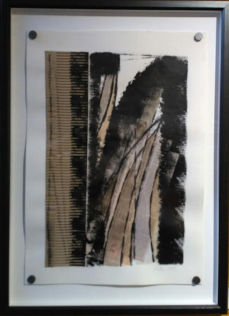 Kerstin Carolin Beyer, Collage, black and brown, newspaper,