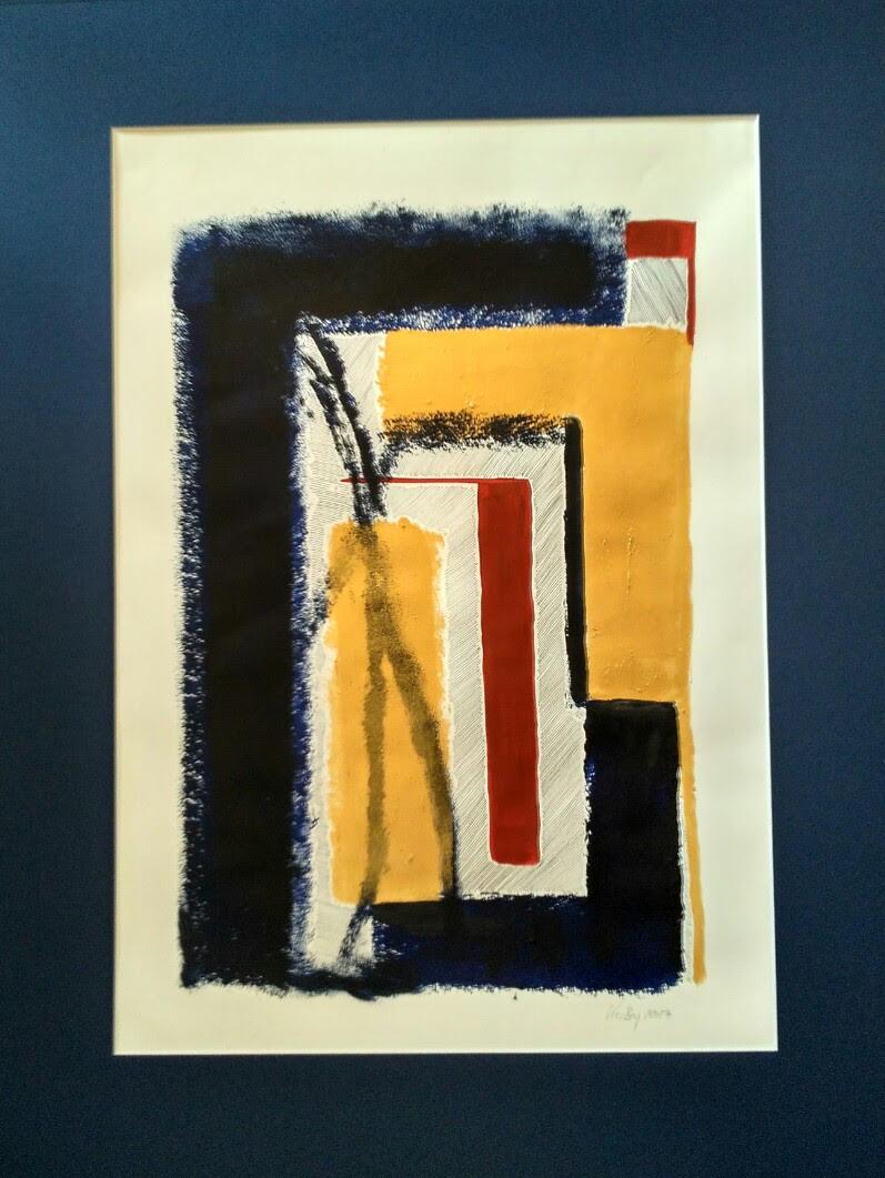 Kerstin Carolin Beyer, painting, acrilic and ink, acrílico y tinta, colores, dorado azul rojo chino feria Hong Kong