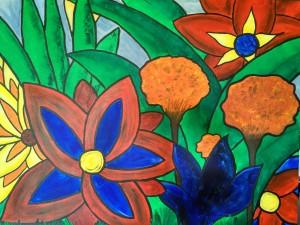 Welcome to the Jungle_Kerstin Carolin Beyer_Acrilic on canvas_100x100cm_1200.-€