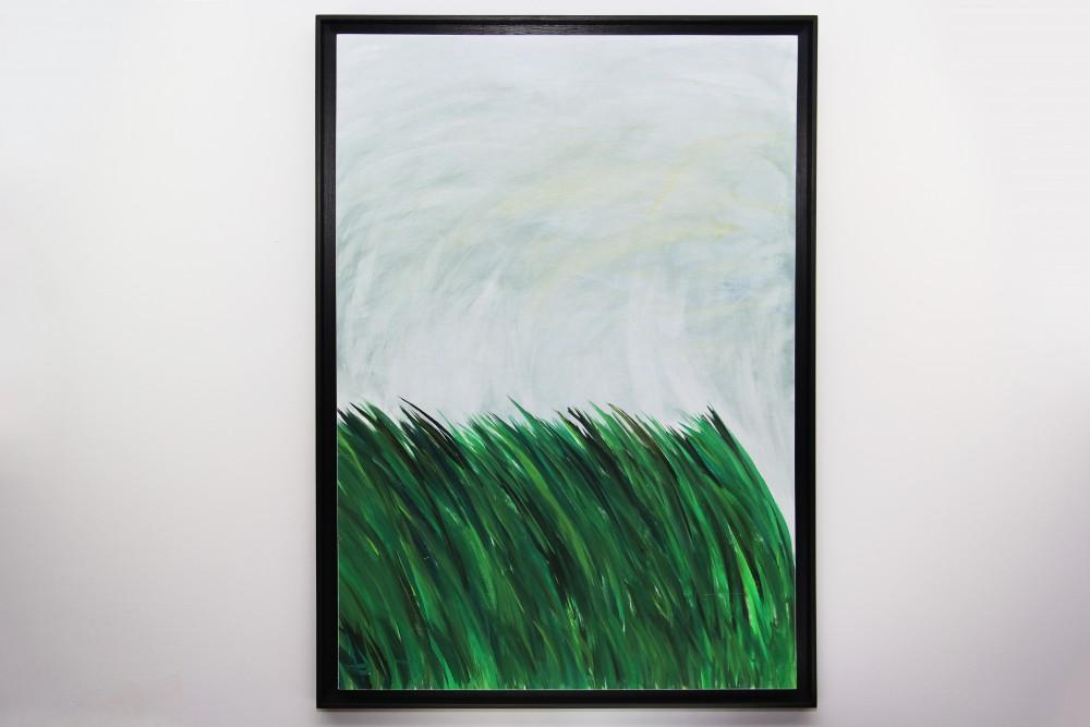 Kerstin Carolin Beyer, painting, Gras, Gouache sobre papel,
