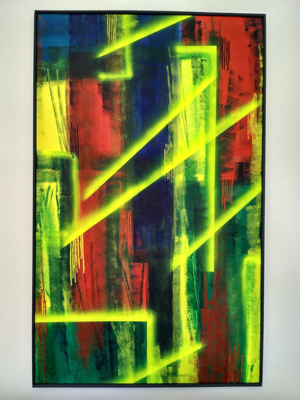 Kerstin Carolin Beyer, Leuchtstoffröhren, Big format, flourescent